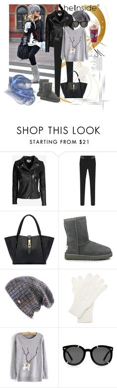 """""""Shein 2"""" by aida-1999 ❤ liked on Polyvore featuring IRO, UGG Australia, Spacecraft, White House Black Market and Karen Walker"""