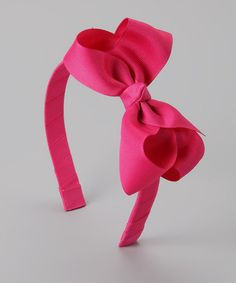 Another great find on #zulily! Hot Pink Bow Headband by The Bow Lady #zulilyfinds