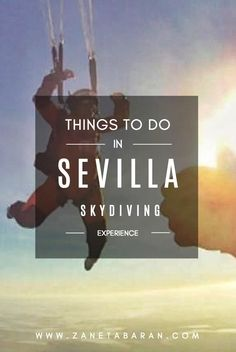 Looking for extreme activities in Sevilla, Spain? Check out skydiving experience for adrenaline freaks only! It is one of the best things to do in Sevilla! Europe Travel Guide, Spain Travel, Extreme Activities, Backpacking Spain, Stuff To Do, Things To Do, Spain Culture, Sevilla Spain, Europe