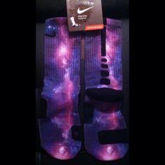 Purple Galaxy Custom Nike Elites full by DopeSocksAndStuff on Etsy, $24.99