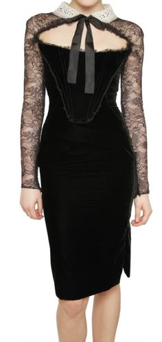 Victorian lace bustier dress