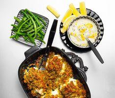 Recept: Torsk med frasigt täcke och citronsås My Recipes, Recipies, Healthy Recipes, Healthy Food, Swedish Recipes, Food Inspiration, Seafood, Good Food, Brunch