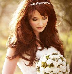 Dazzling Long Wedding Hairstyles with Tiara