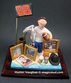 Dad's 40th Birthday Gift Personalized  www.magicmud.com 1 800 231 9814 creating a custom made gift figurine for any man based on the things he likes to do! ...incorporating his work, sports, family, hobbies, food, drink, electronic gadgets, etc. $225 #dad #men #guys #christmas #birthday #anniversary #custom #personalized #xmas #present #award #ChristmasGift #BirthdayGift #husband