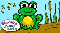 Five little speckled frogs - nursery rhymes and childrens songs, via YouTube.