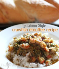 Louisiana Style Crawfish Etouffee Recipe via PinkWhen.com #crawfish_etouffee #crawfish #etouffee