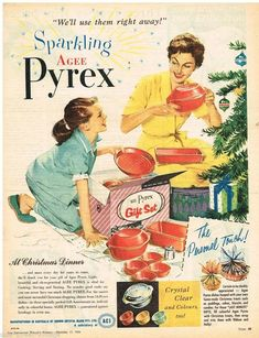 Vintage 1958 Agee Pyrex Christmas gift set advertisement