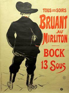 Affiche de Toulouse Lautrec pour inspiration de calligraphie similaire