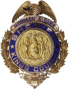Kings Co Sheriff NY vintage