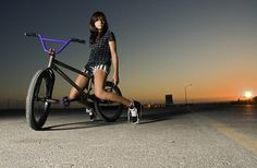 Back in the days of 'BMX Girl' this would have been a prime example of the visuals. Wide open spaces, Dark haired alternative girl yet roots in femininity and a mean ass BMX.