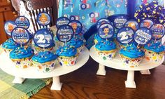 Bubble guppies cupcakes for birthday party