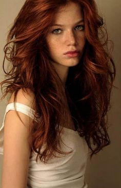 Long Chestnut red hair color