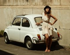 Fiat 500 and a model