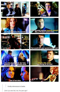 It makes me giggle SO HARD when Castle references Firefly! XD