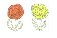 Scribbled Roses Machine Embroidery Designs by meringuedesigns, $5.85