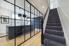 Contemporary kitchen in Victorian home with a metal framed screen Victorian House London, Victorian Homes, Richmond London, Strawberry Hill, Home And Family, Contemporary, Architecture, Metal, Kitchen