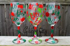 Holiday Wine Glass 20 oz Christmas Holidays Gifts by ahindle78 on Etsy https://www.etsy.com/listing/116252707/holiday-wine-glass-20-oz-christmas