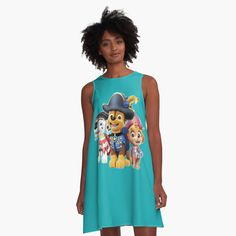 'Paw Patrol fun' A-Line Dress by StefaniaAlina Paw Patrol, Summer Dresses, Printed, Awesome, How To Make, Shopping, Products, Art, Fashion