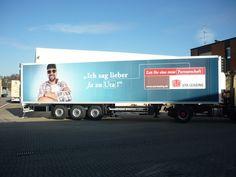 Weiteres Beispiel für Lkw Werbung.