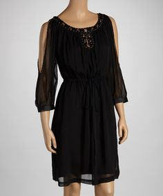 Take a look at this Black Cutout Dress on zulily today!