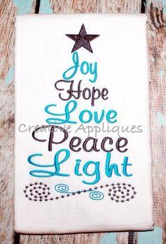 Gorgeous Christmas tree word pattern