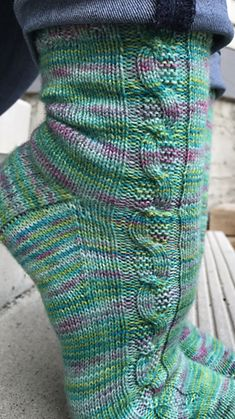 Ravelry: Curious Cable Socks pattern by Two Birds Knitting Co. Ravelry: Curious Cable Socks pattern by Two Birds Knitting Co. Cable Knit Socks, Cable Knitting, Crochet Socks, Vogue Knitting, Knitting Stitches, Knitting Socks, Hand Knitting, Knit Crochet, Knit Sweaters