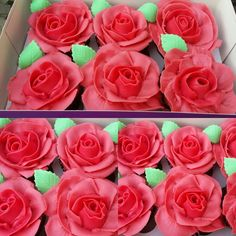 Rose cupcakes #piped roses#CakeDesignLondon