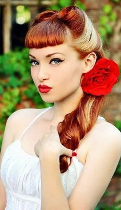 #redhead #rockabilly #pinup #hair   Would love to attempt this! the color is amazing too!