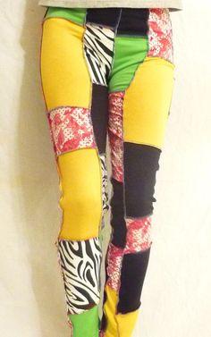 Vibrant Life Energy Colors Leggings Rasta Regal by SparrowAndAsh