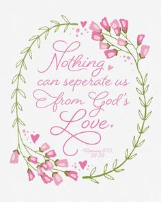 Feb. 2017, This free inspirational printable featuring Romans 8 & God's love is available in two sizes and is perfect for visiting teaching, gifts, and home decor! Click here or go to www.TeepeeGirl.com!