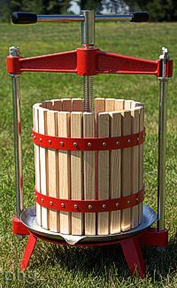 Make your own apple cider with a fruit press!