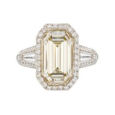 Betteridge Collection Emerald-Cut Champagne Diamond Ring