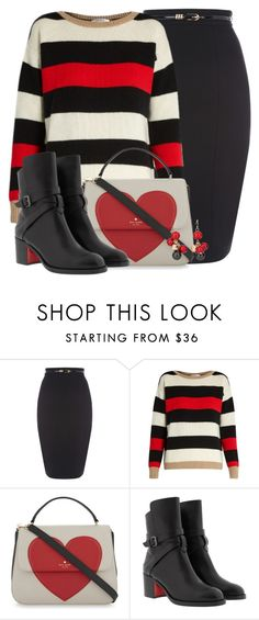 """simple outfit"" by creativejenerator ❤ liked on Polyvore featuring MaxMara, Kate Spade, Christian Louboutin and Chico's"