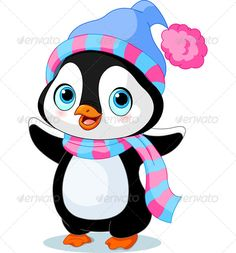 Clipart of Cute winter penguin - Search Clip Art, Illustration Murals, Drawings and Vector EPS Graphics Images - Christmas Clipart, Christmas Baby, Christmas Angels, Christmas Crafts, Penguin Clipart, Cute Clipart, Cartoon Cartoon, Penguin Cartoon, Black Cartoon