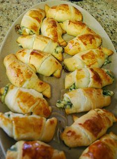 Windy City Crescent Rolls | Served warm and gooey and stuffed with feta and spinach, it's hard to eat just one, food recipes, crescent rolls, dinner ideas