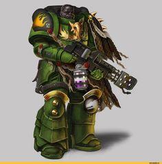 Salamanders :: Space Marine (Adeptus Astartes) :: Imperium (Империум) :: Warhammer 40000 (warhammer40000, warhammer40k, warhammer 40k, ваха, сорокотысячник) :: фэндомы / красивые картинки и арты, гифки, прикольные комиксы, интересные статьи по теме.