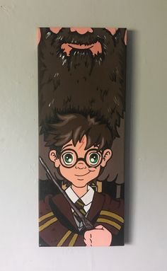 Harry Potter and Hagrid canvas