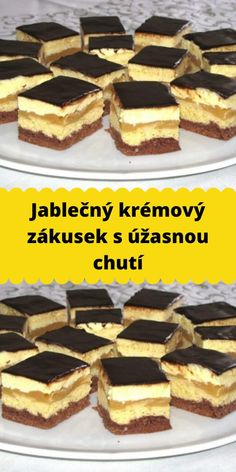 Sweet Desserts, No Bake Desserts, Dessert Recipes, Czech Recipes, Ethnic Recipes, Easy Dinner Recipes, Easy Meals, Keto Dinner, Sweet Tooth