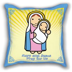 Mary and Baby Jesus Pillowcase $ 23