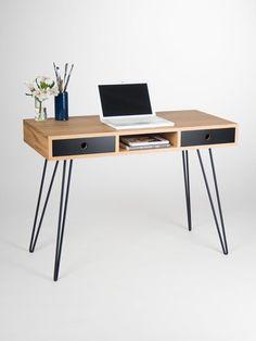 Desk, computer desk, office desk, desk with drawers, desk with storage, scandinavian design, mid century modern, midcentury modern, bureau