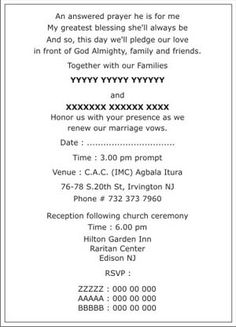 Christian Wedding Invitation Wordings Wedding Pinterest