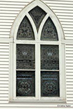 Church window in Eastport, ME