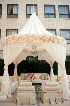 cut off the top pointy part and this would be a nice chuppah