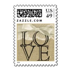 Vintage Lace and Burlap Love Stamp. I love this design! It is available for customization or ready to buy as is. All you need is to add your business info to this template then place the order. It will ship within 24 hours. Just click the image to make your own!