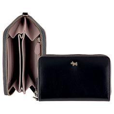 33842d348908 Buy Radley Blair Medium Zip Wristlet Leather Purse, Black Online at  johnlewis.com Джон