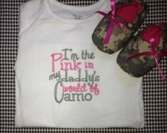 real tree baby stuff | the pink in my daddy's world of camo onesie and shoe set ...you may need this someday!