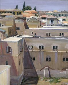 "David Garshen Bomberg (English, 1890 – 1957)  ""Pool of Hezekiah, Jerusalem"", 1925"