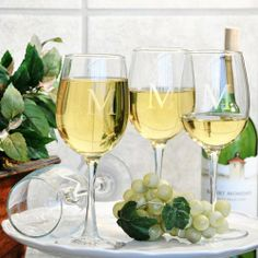 Classic Engraved Wine Glasses (Set of 4) by Cathy's Concepts. $36.95. From summer time sangrias to winter wine toasts, our Classic Wine Glasses (Set of 4) make the perfect shapely addition to anyone's barware collection. Crafted of hand blown glass and personalized at absolutely no cost to you, these stately sippers create wonderful housewarming, engagement or holiday gift and are a timeless staple for wine lovers everywhere. So, whether you're picking up for yourself or ...