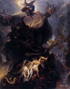 Artist -  Charles Le Brun  (Fall of the Rebel Angels, 1685)