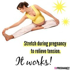 *Remember these pregnancy-safe stretches.* These 5 easy exercises will help you work out the kinks and discomforts that can come with having a baby on board. Good luck, Mama.